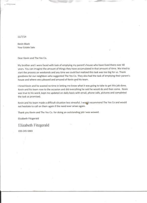 letter - Fitzgerald